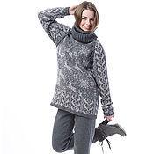 """Одежда ручной работы. Ярмарка Мастеров - ручная работа Вязаный костюм """"Сны о Северном Городе"""" свитер +леггинсы из 100% шерсти. Handmade."""