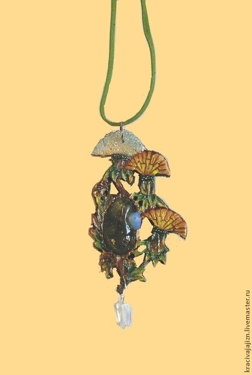 """Кулоны, подвески ручной работы. Ярмарка Мастеров - ручная работа. Купить кулон """"Одуванчики"""". Handmade. Кулон, кулон с камнем"""