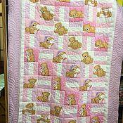 handmade. Livemaster - original item Baby blanket pink bears. Handmade.