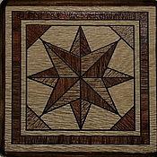 Для дома и интерьера handmade. Livemaster - original item Ceramic thermal stand on wooden platform PCT-PP0000001. Handmade.