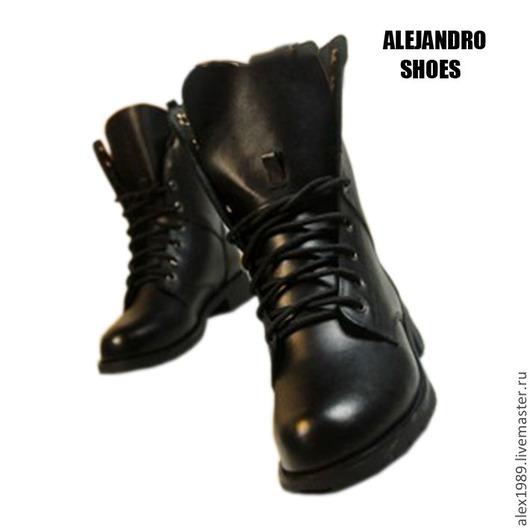 """Обувь ручной работы. Ярмарка Мастеров - ручная работа. Купить Женские ботинки """"Woodland"""". Handmade. Черный, обувь ручной работы"""