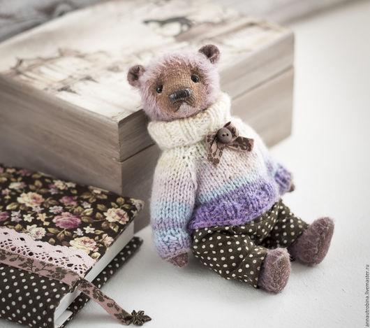 мишка тедди, тедди мишка, винтажный мишка Тедди, мишка подарок, мишка тедди подарок, подарок мишка тедди, тедди подарок мишка, мишка тедди авторский, тедди мишка белый, бледно-сиреневый, мишка тедди в