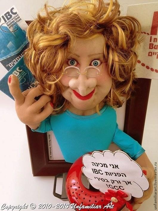 """Портретные куклы ручной работы. Ярмарка Мастеров - ручная работа. Купить Текстильная Портретная Кукла """"Подарок Боссу"""" на Заказ. Handmade."""