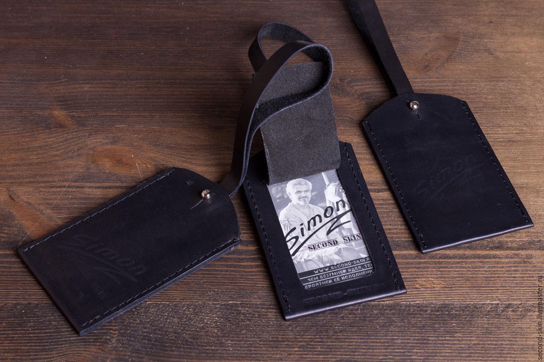 b8a9fddd2efd Купить Бирка для багажа · Кошельки и визитницы ручной работы. Бирка для  багажа. Simon Second Skin.