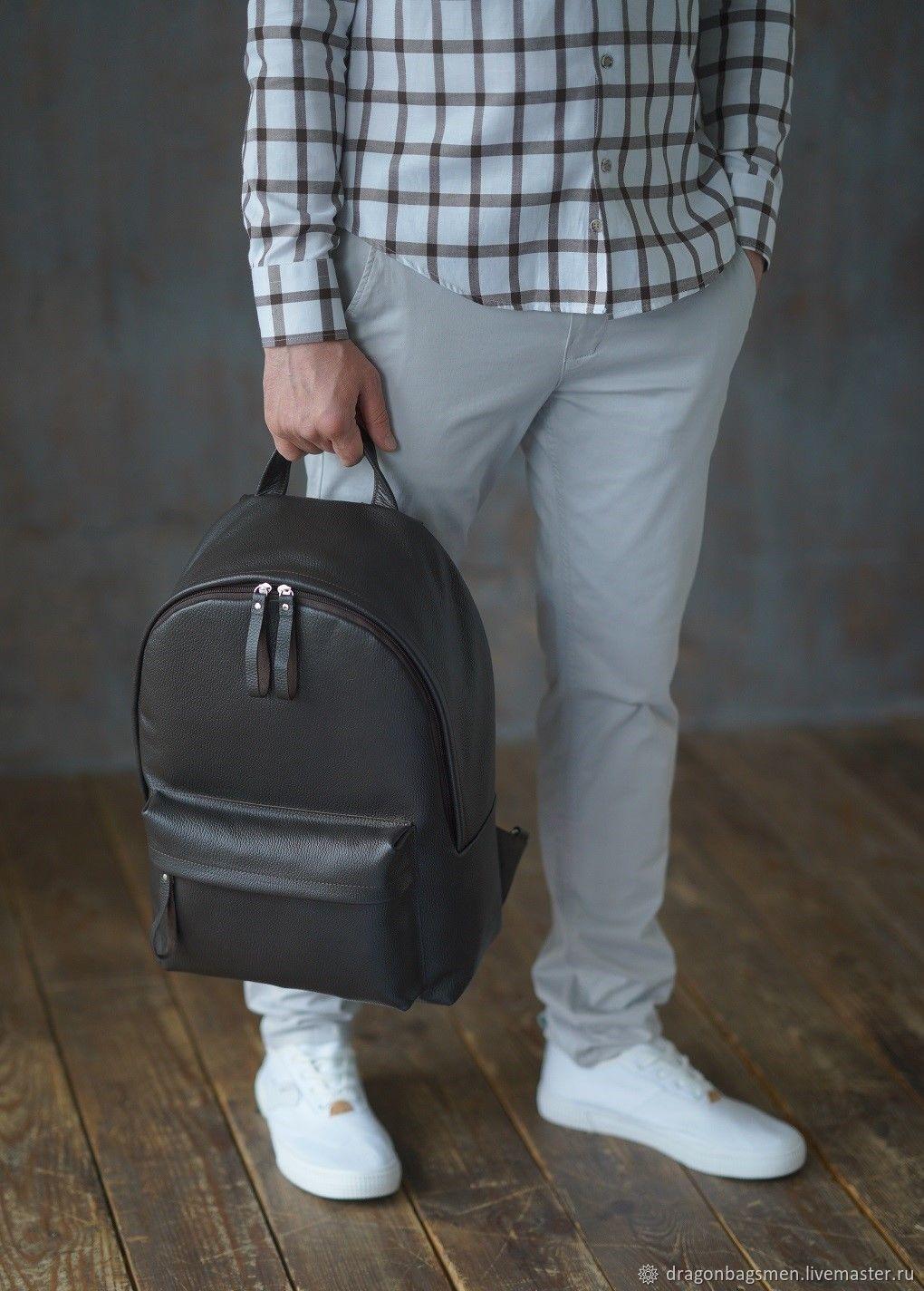 Men's leather backpack ' Lucas '(Brown), Men\\\'s backpack, Yaroslavl,  Фото №1