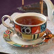 handmade. Livemaster - original item teacups: Cup and saucer porcelain