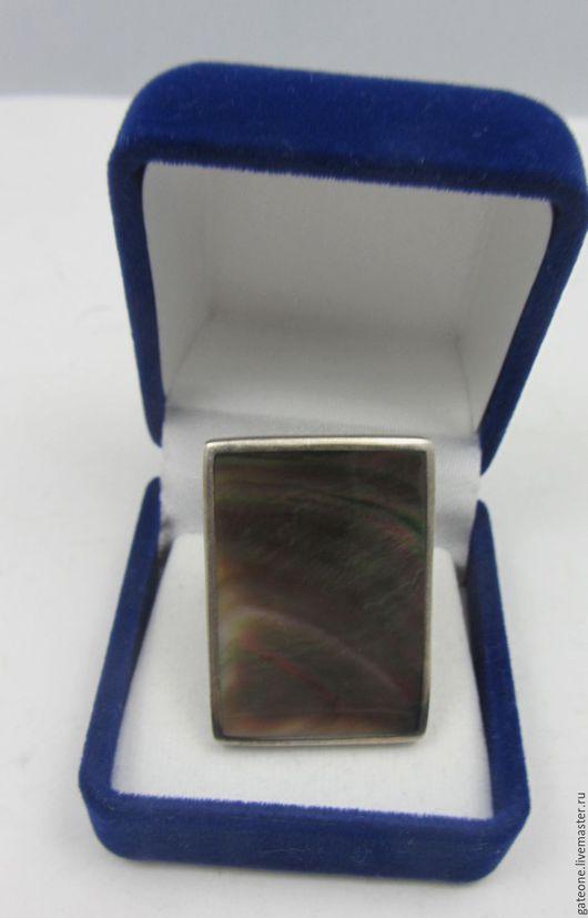 Винтажные украшения. Ярмарка Мастеров - ручная работа. Купить Старинное  антикварное  кольцо с огромным перламутром. Handmade. Кольцо серебро, комбинированный