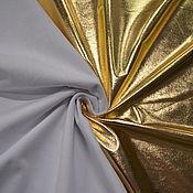 Ткани ручной работы. Ярмарка Мастеров - ручная работа Копия работы Ткани: Футер золото. Handmade.