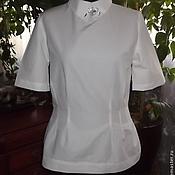 Блузки ручной работы. Ярмарка Мастеров - ручная работа Блузка белая. Handmade.