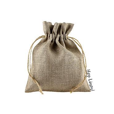 Souvenirs and gifts handmade. Livemaster - original item 13h15sm10sht. Bags made of natural undyed linen. Handmade.