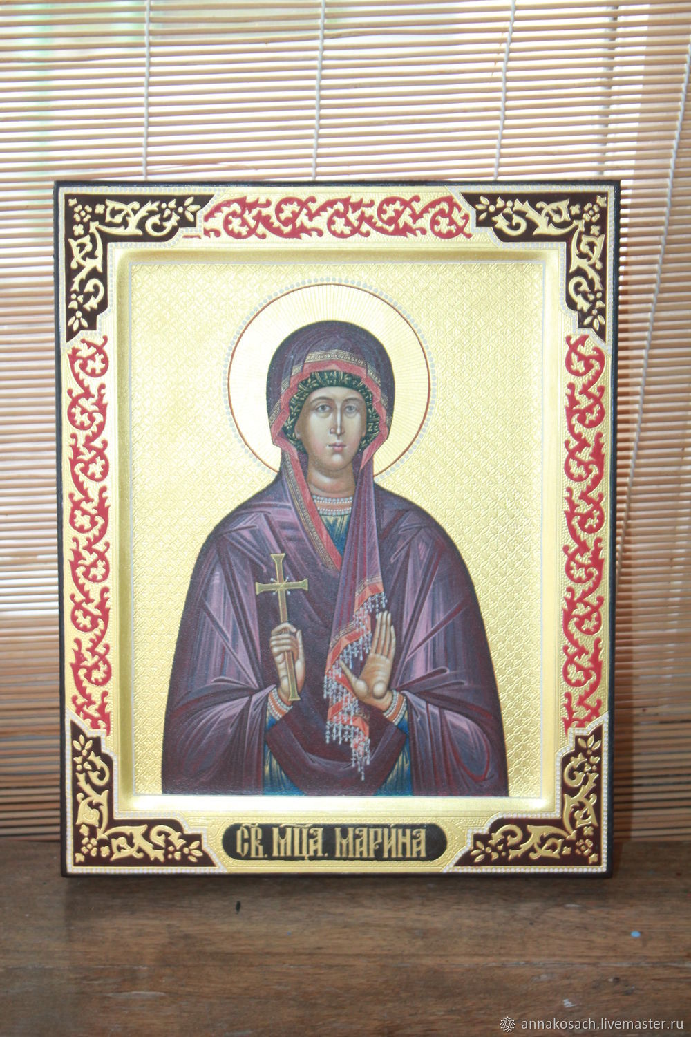 Handwritten icon of the Holy Martyr Marina, Icons, Sizran,  Фото №1