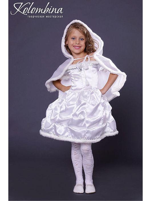 Детские карнавальные костюмы ручной работы. Ярмарка Мастеров - ручная работа. Купить карнавальный костюм снежинки белый. Handmade. Белый