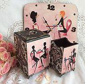 """Подарки ручной работы. Ярмарка Мастеров - ручная работа """"Гламурный мастер"""" маникюра, набор для маникюрши. Handmade."""