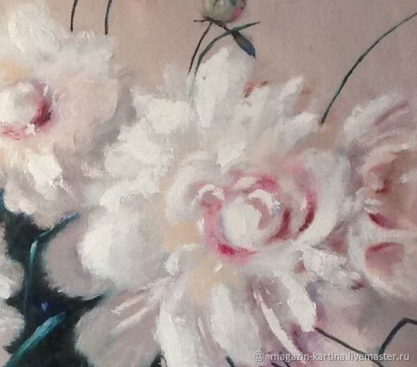 Oil painting the Poetry of white flowers – shop online on Livemaster ...