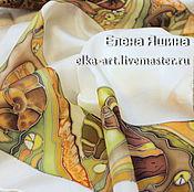 """Аксессуары ручной работы. Ярмарка Мастеров - ручная работа Платок """"Улитки"""". Handmade."""