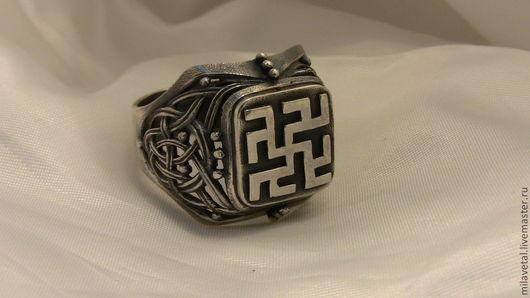 Кольца ручной работы. Ярмарка Мастеров - ручная работа. Купить Кольцо с одолень травой. Handmade. Оберег, славянская символика