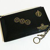 Сумки и аксессуары handmade. Livemaster - original item Steampunk eco-leather wallet