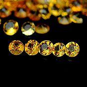 Материалы для творчества ручной работы. Ярмарка Мастеров - ручная работа Цитрин натуральный ААА, круг 2 мм,102 шт. Handmade.
