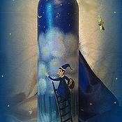 """Для дома и интерьера ручной работы. Ярмарка Мастеров - ручная работа Бутылочка-ваза """"Ночная сказка"""". Handmade."""