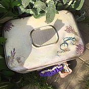 Сумки и аксессуары handmade. Livemaster - original item Rio Rita (lavender vintage suitcase). Handmade.