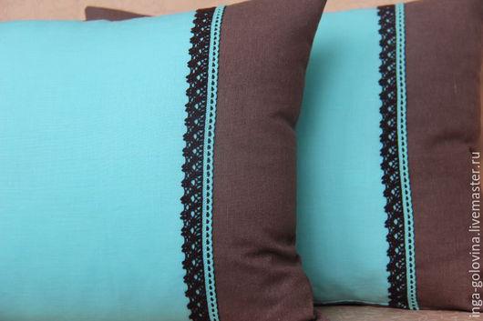 Текстиль, ковры ручной работы. Ярмарка Мастеров - ручная работа. Купить Декоративные наволочки.. Handmade. Комбинированный, текстиль для дома