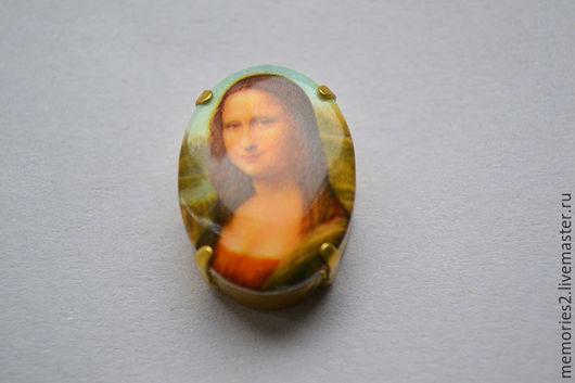Для украшений ручной работы. Ярмарка Мастеров - ручная работа. Купить Крупный винтажный страз 25х18 мм цвет Mona Lisa. Handmade.