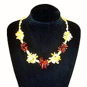 Украшения handmade. Livemaster - original item Baltic amber beads necklace jewelry gift for woman mom. Handmade.