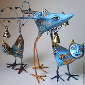 Для дома и интерьера ручной работы. Ярмарка Мастеров - ручная работа Синие птыцы. Handmade.