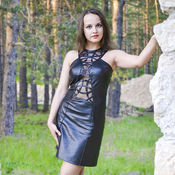 Одежда handmade. Livemaster - original item Leather dress Bridget. Handmade.