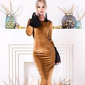 Одежда ручной работы. Ярмарка Мастеров - ручная работа Mon plaisir - женственное платье сшитое из бархатного удовольствия. Handmade.