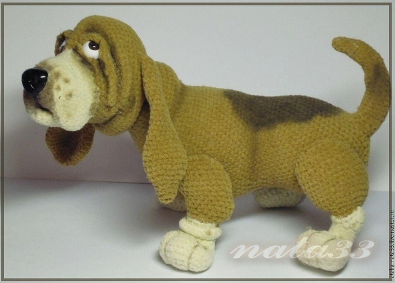 Вязание собаки описание