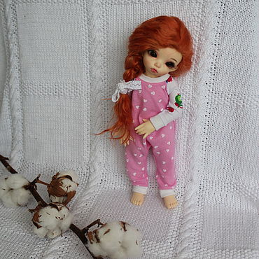 """Куклы и игрушки ручной работы. Ярмарка Мастеров - ручная работа Парик для куклы литлфи и др. 6-7"""". Handmade."""