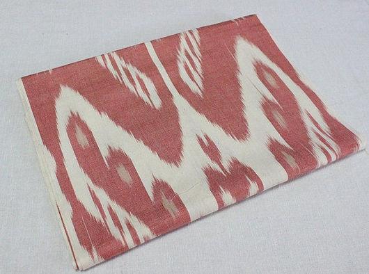 Шитье ручной работы. Ярмарка Мастеров - ручная работа. Купить Узбекская ткань ручного ткачества. Коралловый икат. Handmade. Коралловый