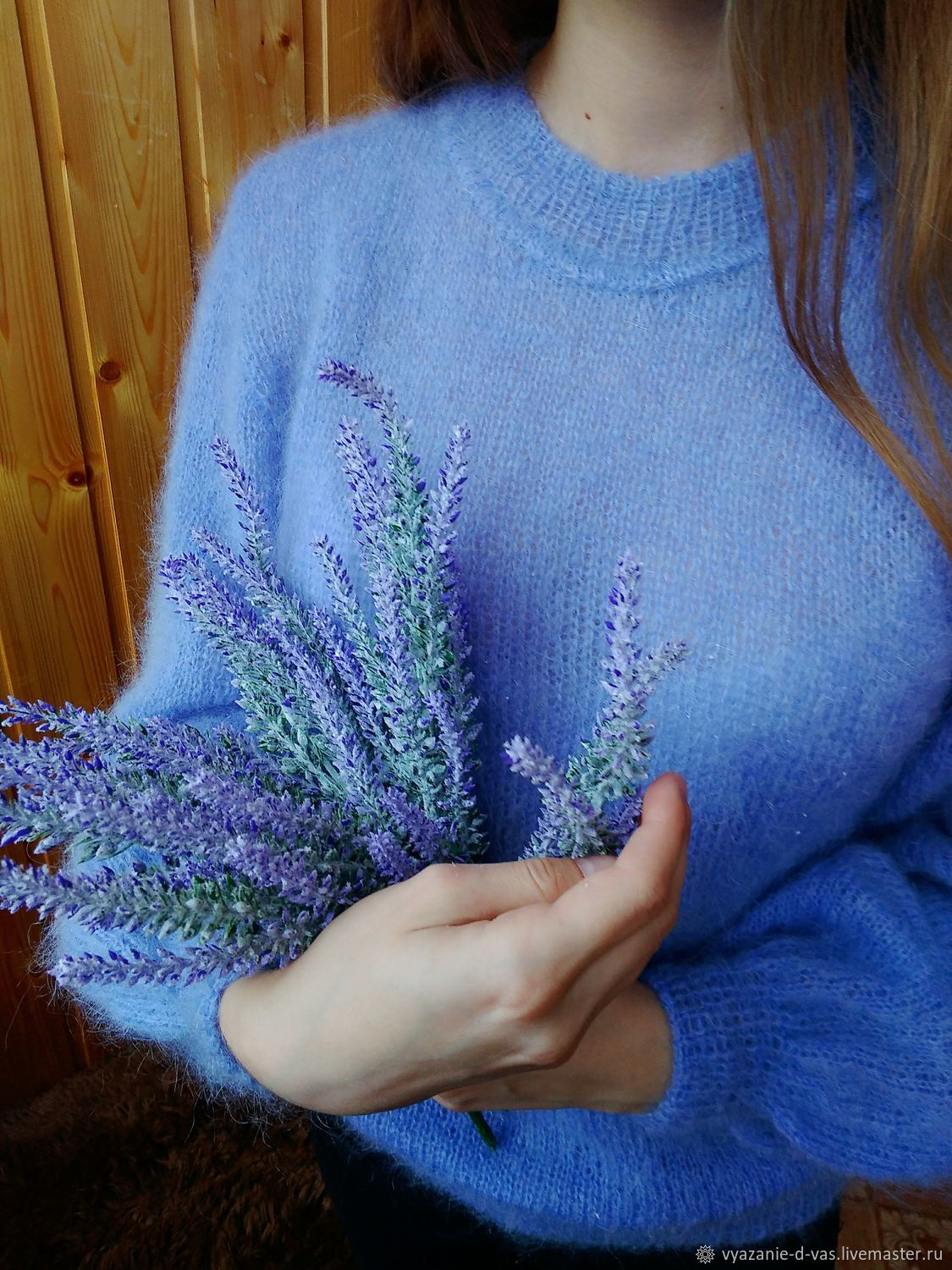 Jumper women knitted mohair Angora Lavender (blue), Jumpers, Voronezh,  Фото №1