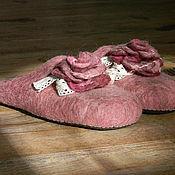 """Обувь ручной работы. Ярмарка Мастеров - ручная работа Тапочки """"Нежность"""". Handmade."""