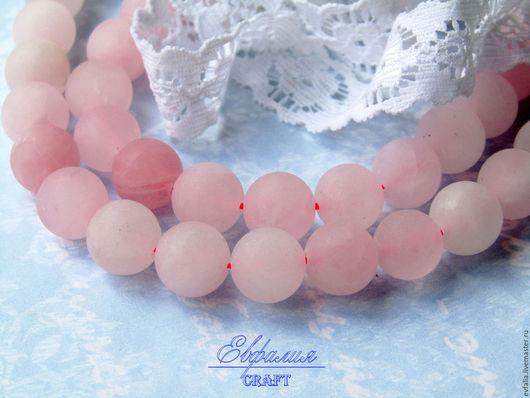 Для украшений ручной работы. Ярмарка Мастеров - ручная работа. Купить Бусины розового кварца матовые 10 мм для украшений. Handmade.