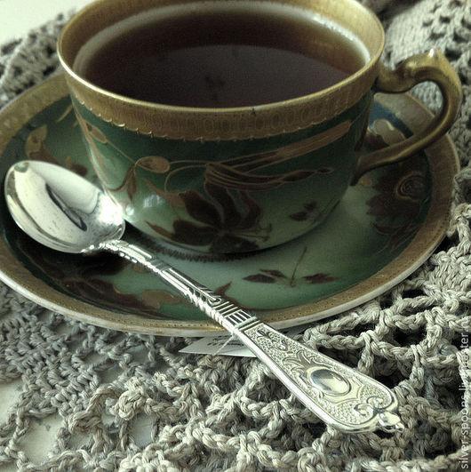 Ложка `Ампир` чайная гладкая (серебро 925). Серебряные ложки Скоблинского. Столовое серебро всегда считалось хорошим подарком на свадьбу или её годовщины, юбилей и др. торжества.