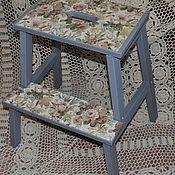 Для дома и интерьера ручной работы. Ярмарка Мастеров - ручная работа Табуретка -ступенька и салфетница под цвет кухни. Handmade.