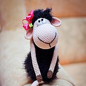 Материалы для творчества ручной работы. Ярмарка Мастеров - ручная работа Мастер класс по созданию вязаной овечки Муси (описание вязания ). Handmade.