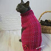 Для домашних животных, ручной работы. Ярмарка Мастеров - ручная работа Свитер удлиненный для котов и кошек.. Handmade.