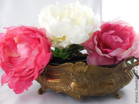 Винтажные предметы интерьера. Ярмарка Мастеров - ручная работа. Купить Жардиньерка, кашпо, цветочный горшок, латунь и медь, рококо. Handmade.