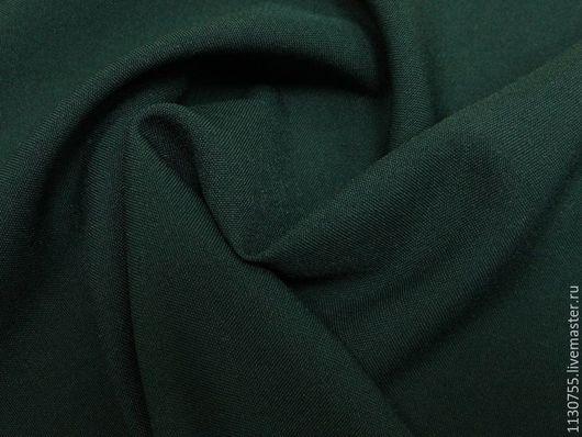 Шитье ручной работы. Ярмарка Мастеров - ручная работа. Купить Ткань габардин  т.зеленый. Handmade. Тёмно-зелёный