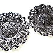 Винтаж handmade. Livemaster - original item Cast iron Plate Dish decor Openwork Classic Kasli Gotic. Handmade.