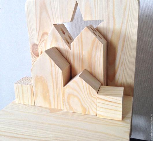 Развивающие игрушки ручной работы. Ярмарка Мастеров - ручная работа. Купить Домики деревянные для детей. Handmade. Бежевый, дети, деревянный