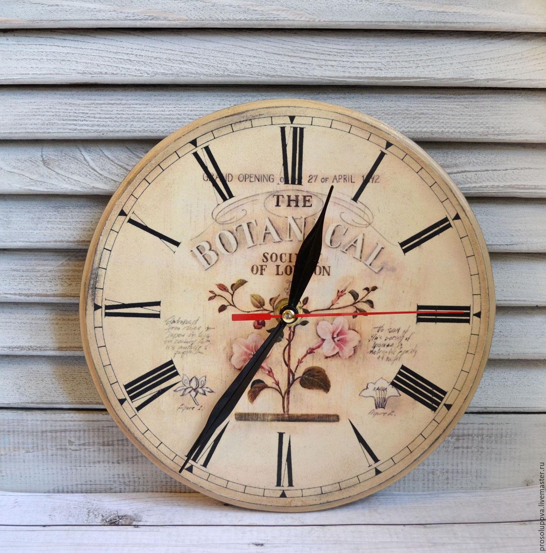 Wall Clock Vintage Decoupage Botanical Shop Online On Livemaster