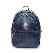Сумки и аксессуары handmade. Livemaster - original item Backpack leather female blue Arab night Mod R43-661. Handmade.
