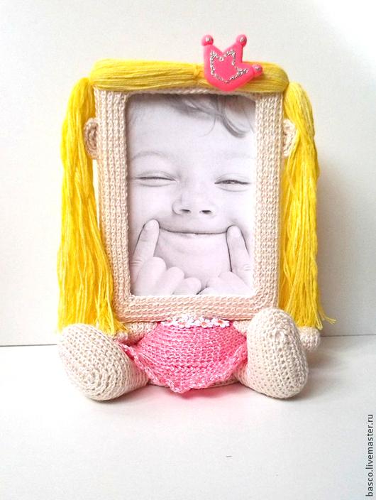 """Фоторамки ручной работы. Ярмарка Мастеров - ручная работа. Купить Фоторамка """"Принцесса"""". Handmade. Розовый, фоторамка, малышке, игрушка"""