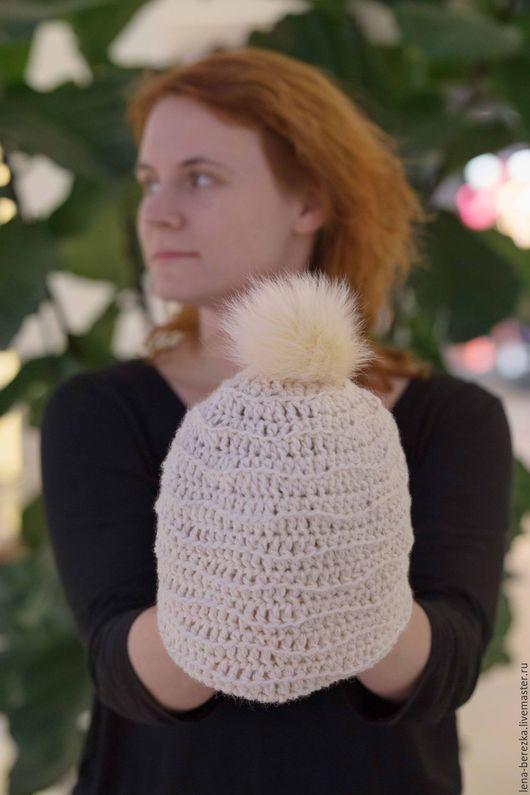 """Шапки ручной работы. Ярмарка Мастеров - ручная работа. Купить Шапка """"Снег"""" 2. Handmade. Шапка, шапка зимняя"""