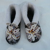 Обувь ручной работы handmade. Livemaster - original item Boots for the house. Home Slippers