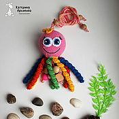"""Куклы и игрушки ручной работы. Ярмарка Мастеров - ручная работа Погремушка """"Осьминожка"""".. Handmade."""